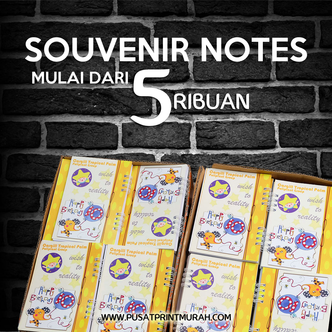 Cetak Notes Souvenir