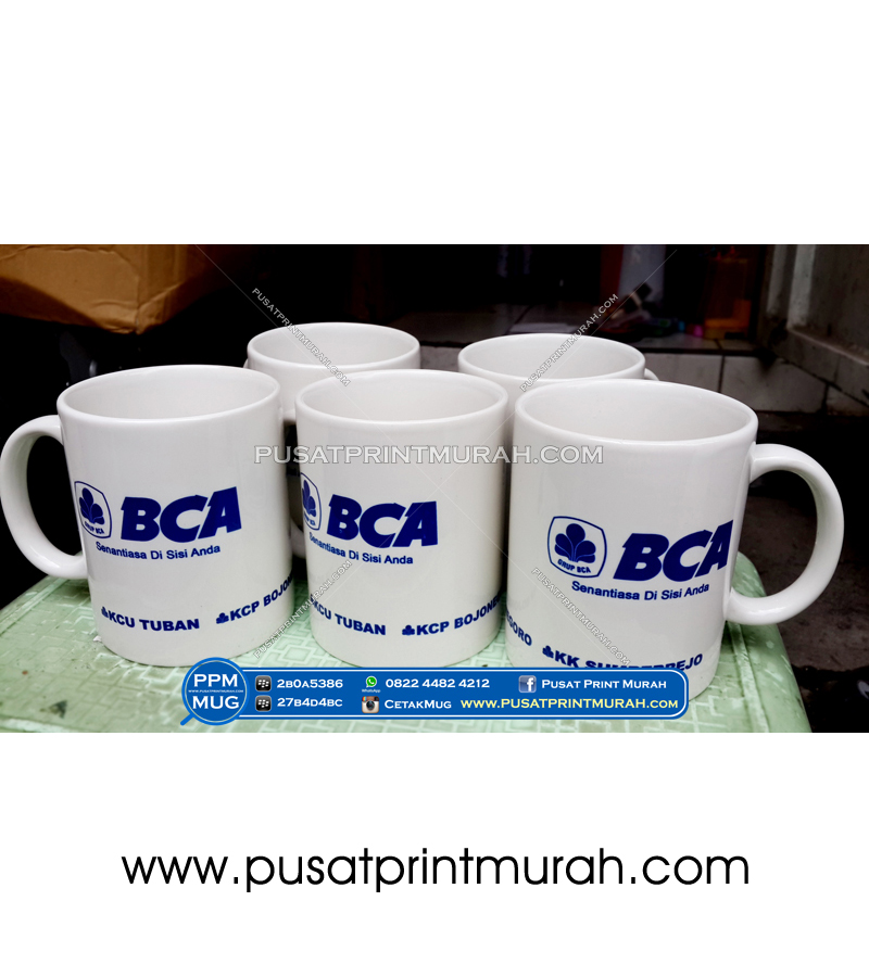 Cetak Mug Import - Bank BCA tuban